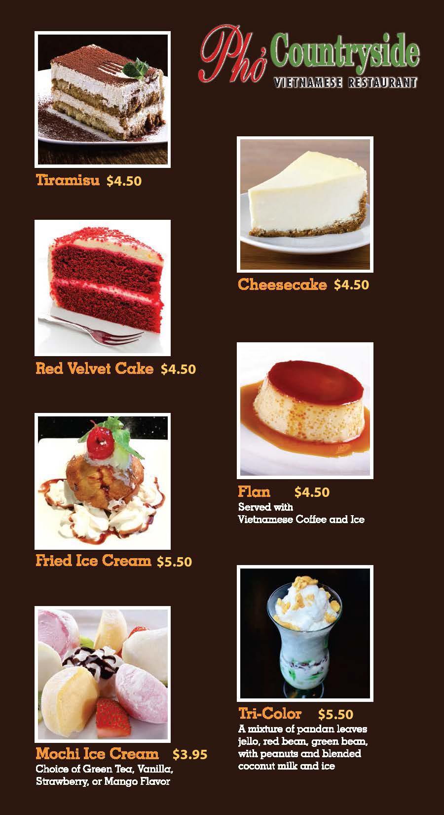 Desserts Menu (Quincy)